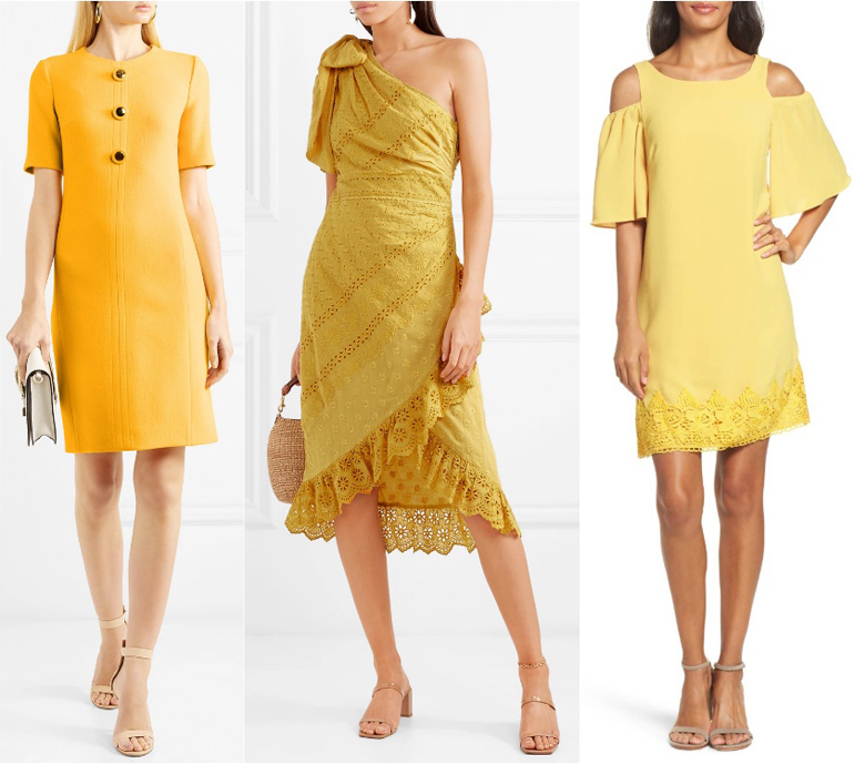 What Color Shoes with a Yellow Dress - Blush