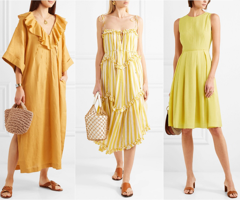 What Color Shoes to Wear with a Yellow Dress Outfit