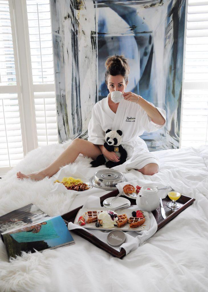 Radisson Admiral Hotel Toronto Harbourfront Breakfast in Bed
