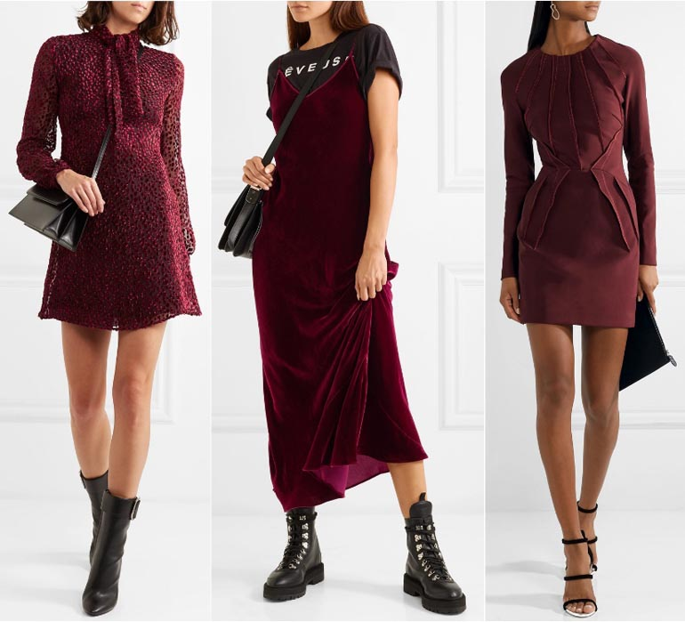 What Color Shoes to Wear with a Burgundy Dress & Burgundy ...