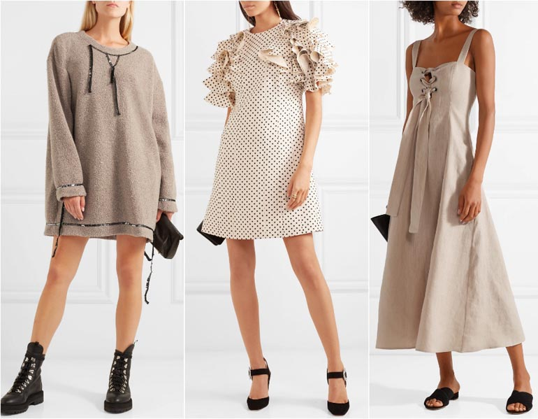 Beige Dress Picture Collection: What Color Shoes To Wear With A Beige Dress & Outfit