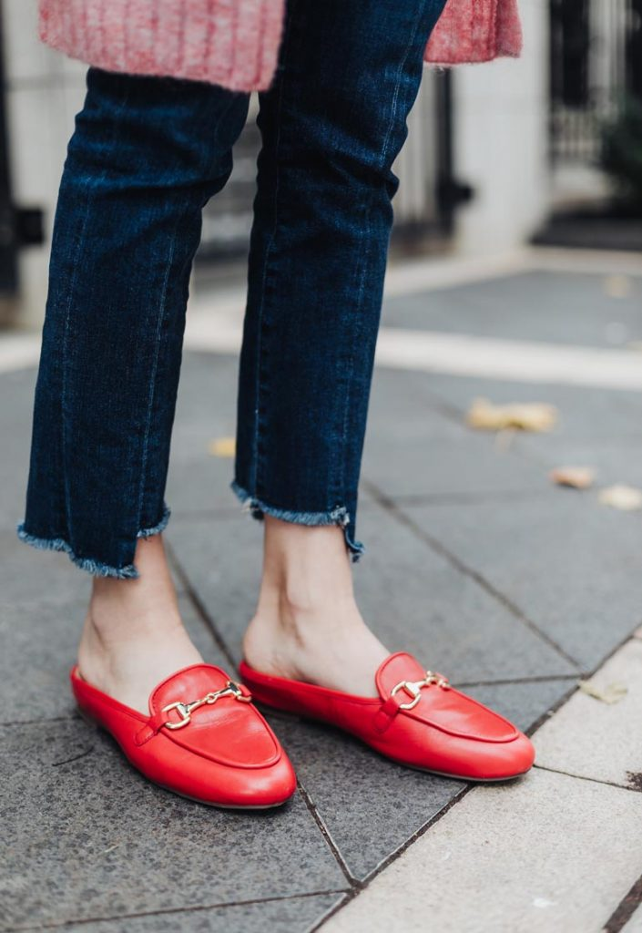 Red Gucci Loafers Dupe Vionic Adeline Slides