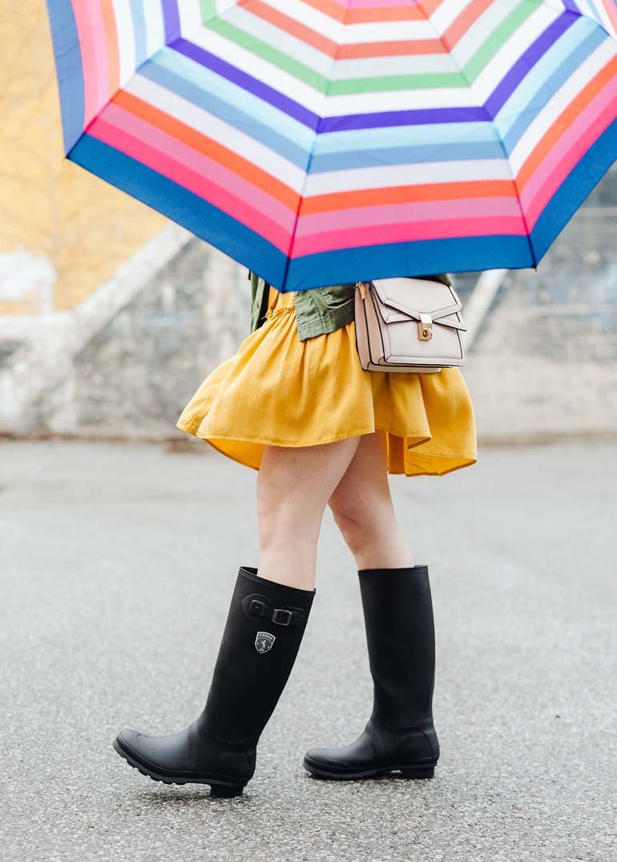 Matte Black Rain Boots Outfit Kamik Jennifer