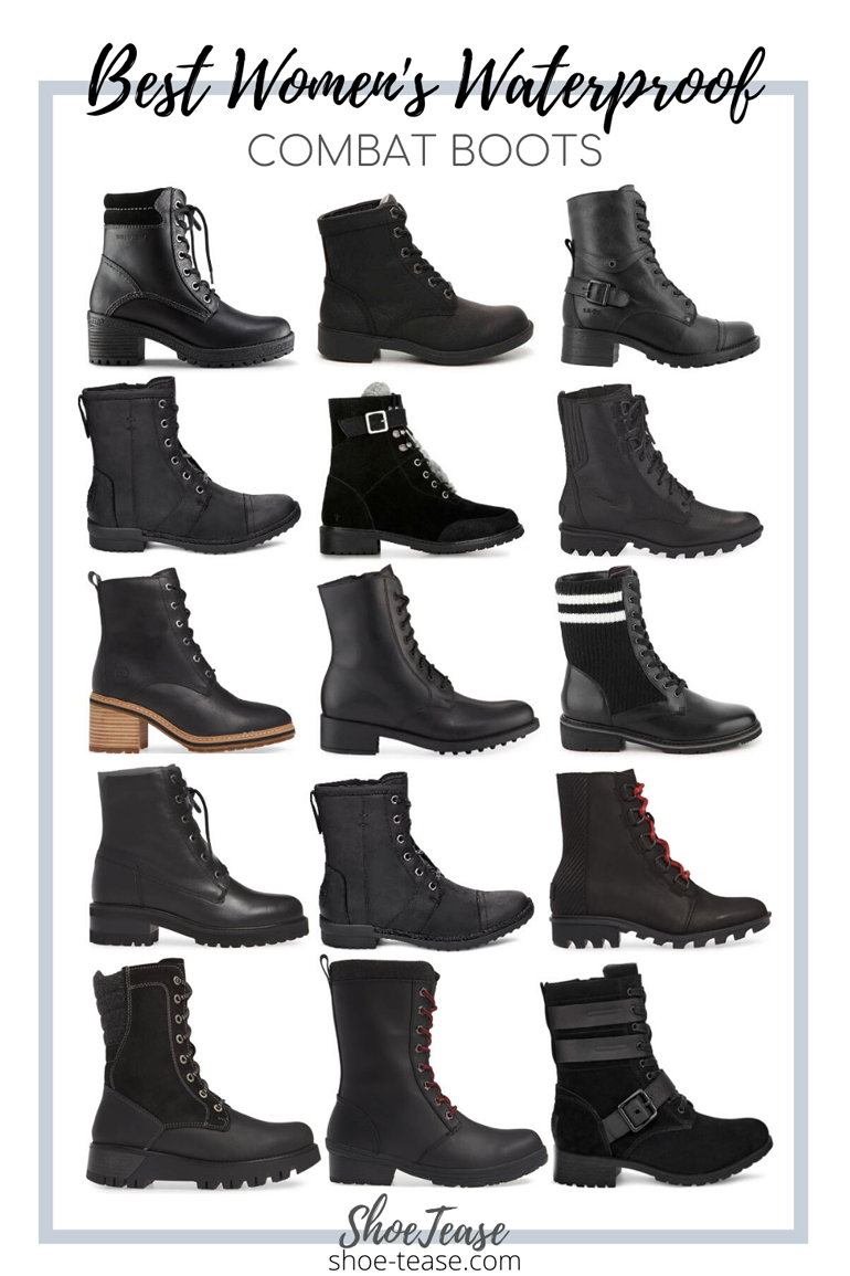Best Black Womens Waterproof Combat Boots - Winter 2019
