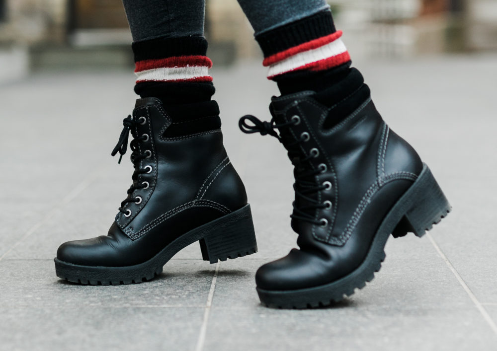 Combat Boots with Cuban Heels - Different Types of Heels