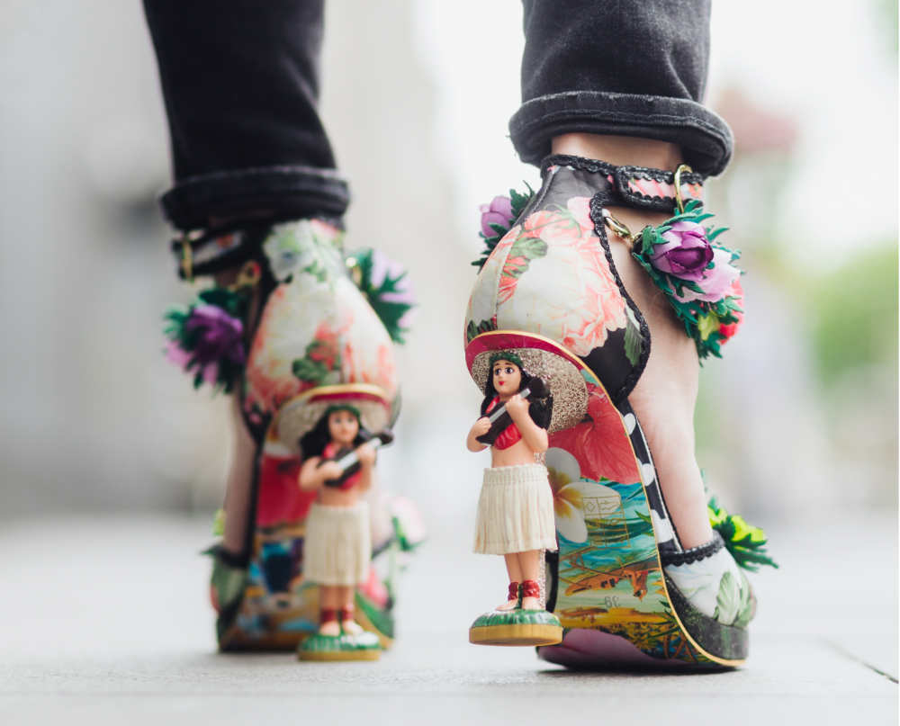 Fantasy heels with Hula Girls Design