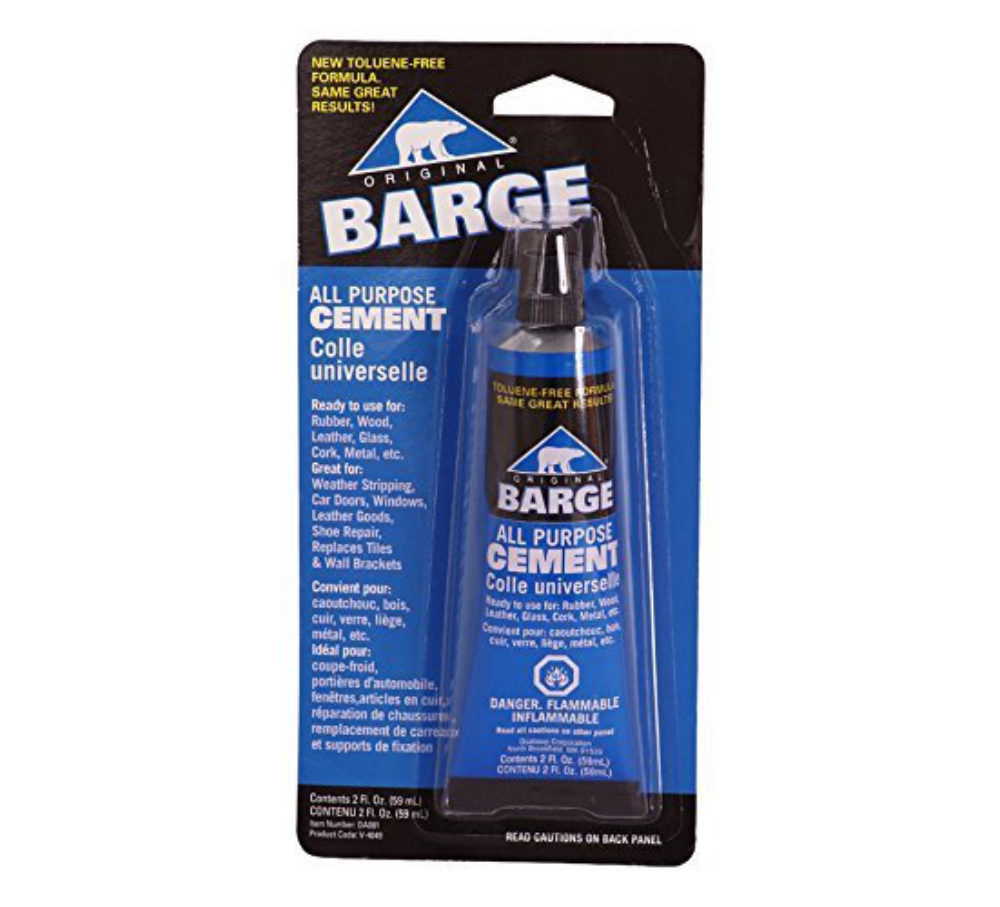 Barge TF Cement Rubber Shoe Glue for Shoe Repair as best glue for shoes.