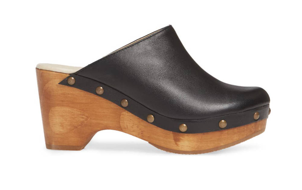 Black Clogs with wooden soles - Types of Women's Shoes.