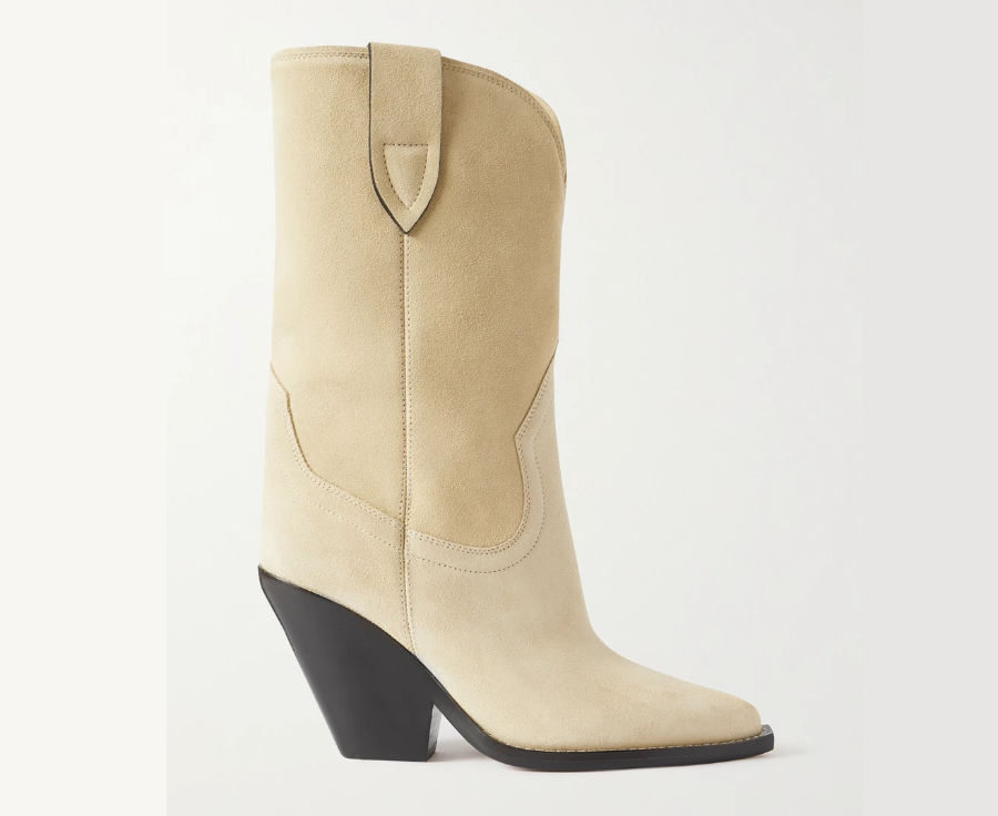 Beige Cowboy boots for women by Isabel Marant.