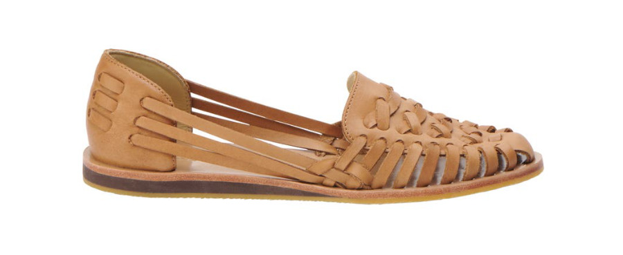 Tan Huarache Sandals: a Type of Shoes for women.