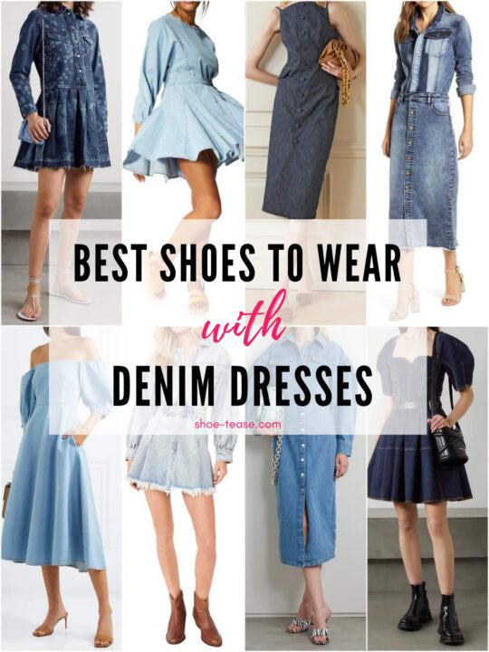 What Shoes to Wear with Denim Dresses – 14 Fab Styles!