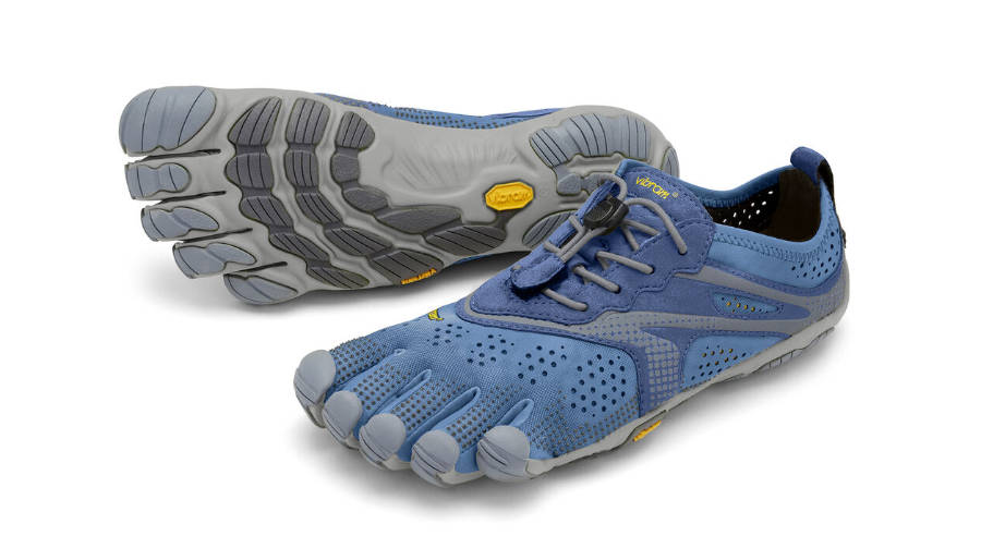 Blue and Grey Vibram Barefoot Shoes with 5 Toes - Types of Women's Shoes.